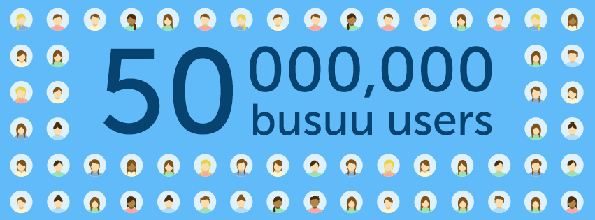 busuu 50 million users worlwide!
