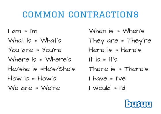 Common contract to improve your English