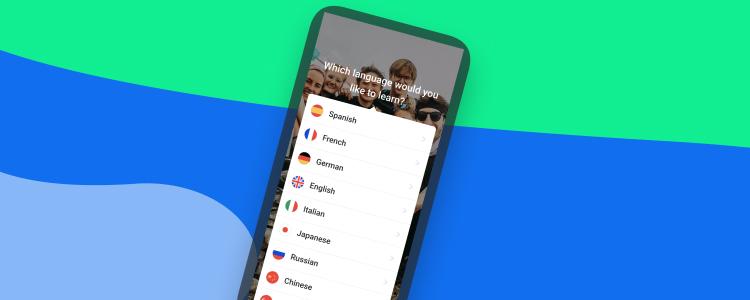 Learn a language with the Busuu app