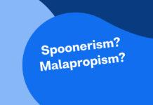 spoonerism malapropism graphic