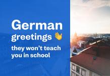 Busuu blog header image - german greetings