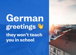 Busuu blog header image - german greetings
