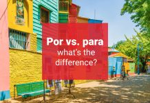 por vs para difference