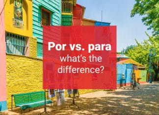 por vs para difference