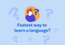 fastest way to learn a language graphic